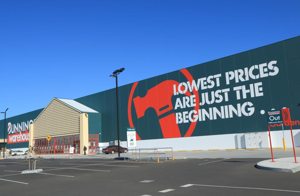 Melbourne Australia- April 25, 2014: Bunnings Warehouse hardware store Australia.