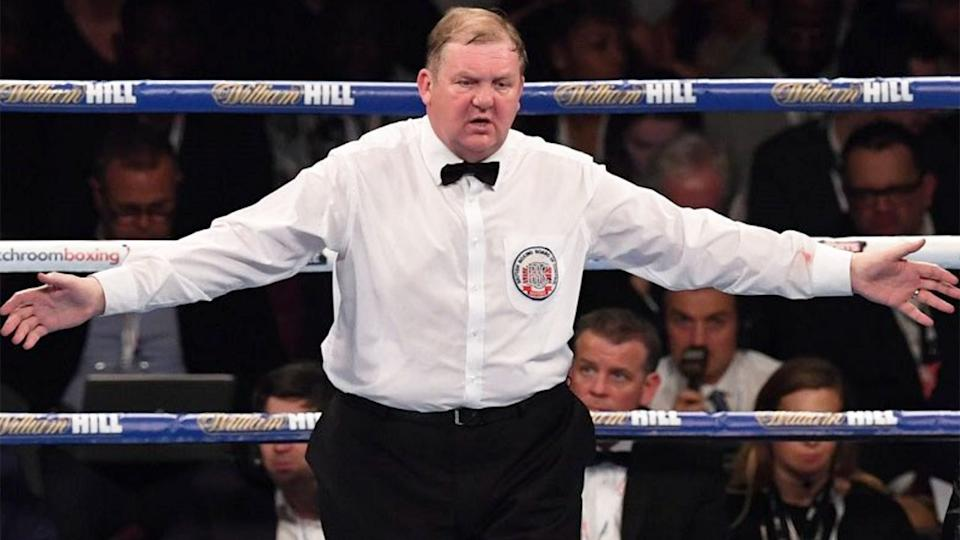Pictured here, British boxing judge Terry O'Connor.