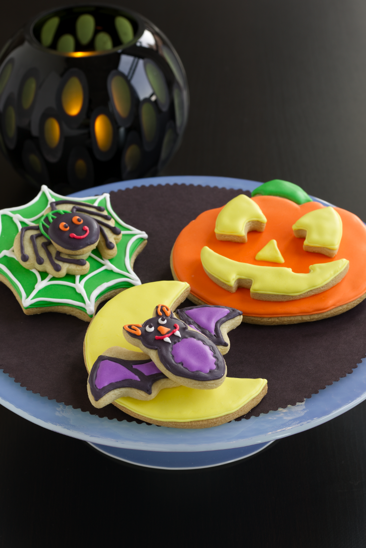 """<p>Made with refrigerated sugar cookie dough, give your cookies a cool 3-D effect by stacking Halloween shapes a top one another.</p><p><a href=""""https://www.womansday.com/food-recipes/food-drinks/recipes/a10831/creepy-cookie-stacks-122186/"""" rel=""""nofollow noopener"""" target=""""_blank"""" data-ylk=""""slk:Get the recipe for Creepy Cookie Stacks."""" class=""""link rapid-noclick-resp""""><em><strong>Get the recipe for Creepy Cookie Stacks.</strong></em></a></p>"""