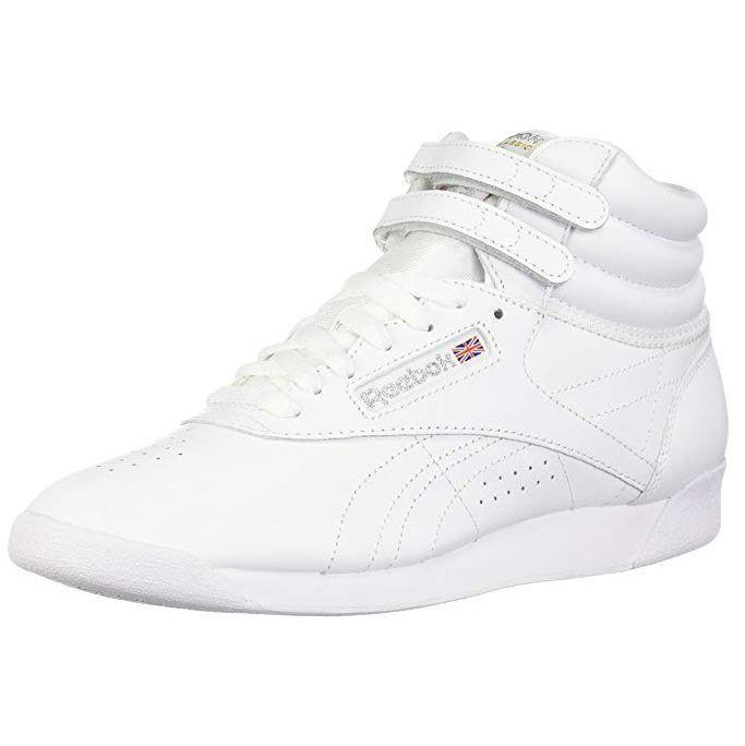 """<p><strong>Reebok</strong></p><p>amazon.com</p><p><strong>$60.42</strong></p><p><a href=""""http://www.amazon.com/dp/B0059WV8UA/?tag=syn-yahoo-20&ascsubtag=%5Bartid%7C10055.g.28110225%5Bsrc%7Cyahoo-us"""" rel=""""nofollow noopener"""" target=""""_blank"""" data-ylk=""""slk:Shop Now"""" class=""""link rapid-noclick-resp"""">Shop Now</a></p><p>We think every woman needs a classic white sneaker in her closet. They pair well with everything: suits, jeans, workout gear, or even a little black dress.</p>"""