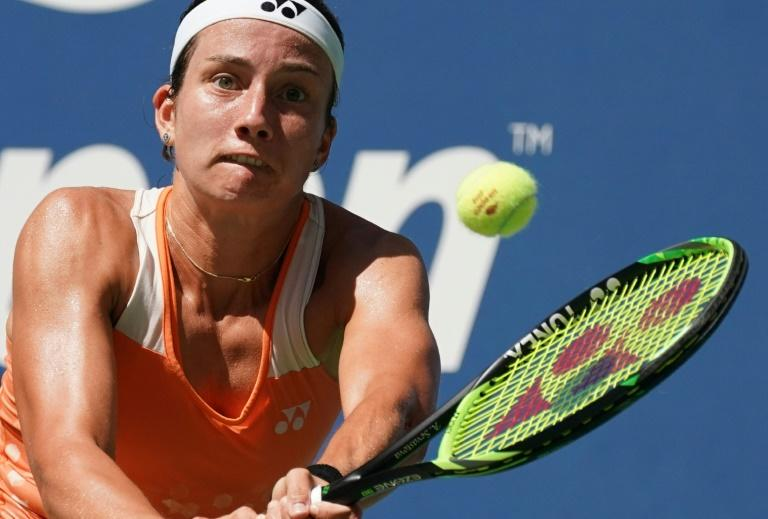 New territory: Anastasija Sevastova defeats defending champion Sloane Stephens to reach her first Grand Slam semi-final at the US Open