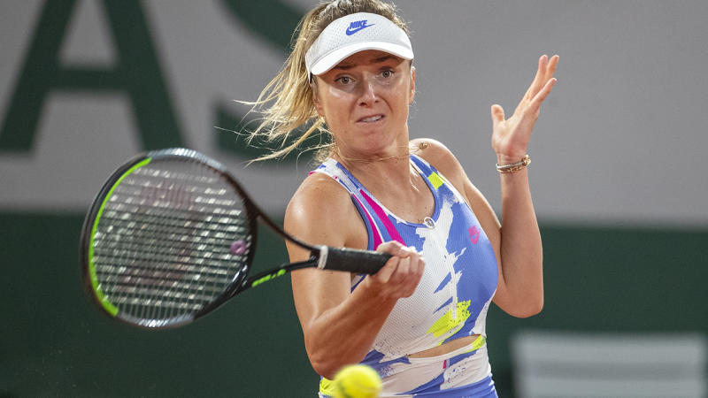 Elina Svitolina, pictured here in action at the French Open.