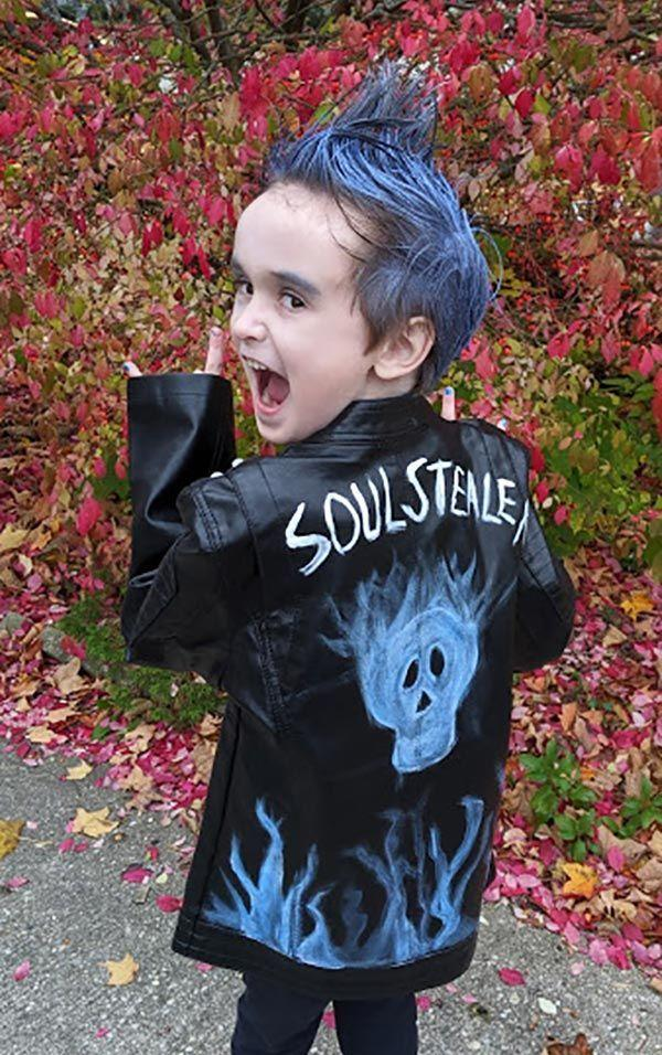 """<p>If your little has the blue, pointy hair and the black motorcycle jacket, he has all he really needs to imitate Hades, the Underworld's biggest baddie from <em>Descendants 3</em>. </p><p><strong>Get the tutorial at <a href=""""https://www.darcyandbrian.com/diy-descendants-3-inspired-hades-costume/"""" rel=""""nofollow noopener"""" target=""""_blank"""" data-ylk=""""slk:Life with Darcy and Brian"""" class=""""link rapid-noclick-resp"""">Life with Darcy and Brian</a>.</strong></p><p><a class=""""link rapid-noclick-resp"""" href=""""https://www.amazon.com/beams-intense-temporary-spray-bangin/dp/B081XBMW4S/ref=sr_1_10?tag=syn-yahoo-20&ascsubtag=%5Bartid%7C10050.g.36674692%5Bsrc%7Cyahoo-us"""" rel=""""nofollow noopener"""" target=""""_blank"""" data-ylk=""""slk:SHOP SPRAY-IN BLUE HAIR COLOR"""">SHOP SPRAY-IN BLUE HAIR COLOR</a></p>"""
