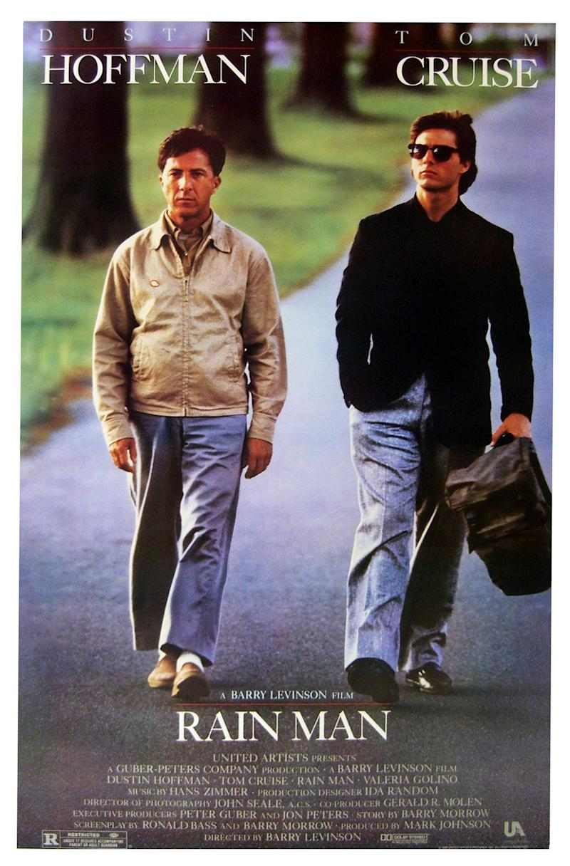"""Rain Man"" starring Dustin Hoffman and Tom Cruise a 1988 American comedy-drama film. (Photo by: Universal History Archive/UIG via Getty images)"