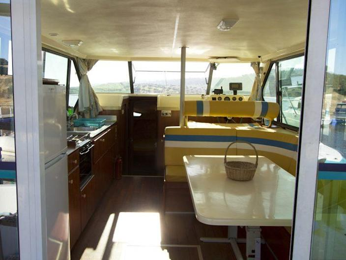 The boats are surprisingly spacious – and include everything you could need [Photo: Amieira Marina]
