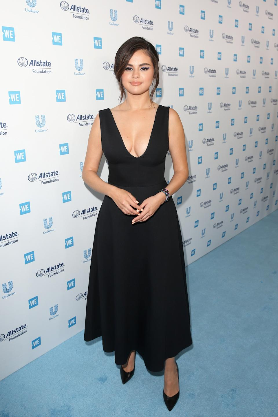INGLEWOOD, CALIFORNIA - APRIL 25: Selena Gomez attends WE Day California at The Forum on April 25, 2019 in Inglewood, California. (Photo by Jesse Grant/Getty Images for WE Day)