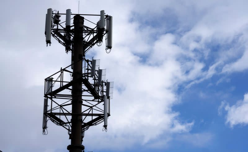 FILE PHOTO: A telecommunications tower managed by American Tower is seen in Golden