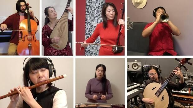 These are some of the 72 professional musicians involved in the production of Off to the Races. (Photo submitted by Vicki Van Chau - image credit)