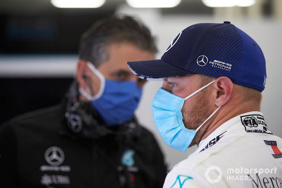 "Valtteri Bottas con mascarilla<span class=""copyright"">Steve Etherington / Motorsport Images</span>"