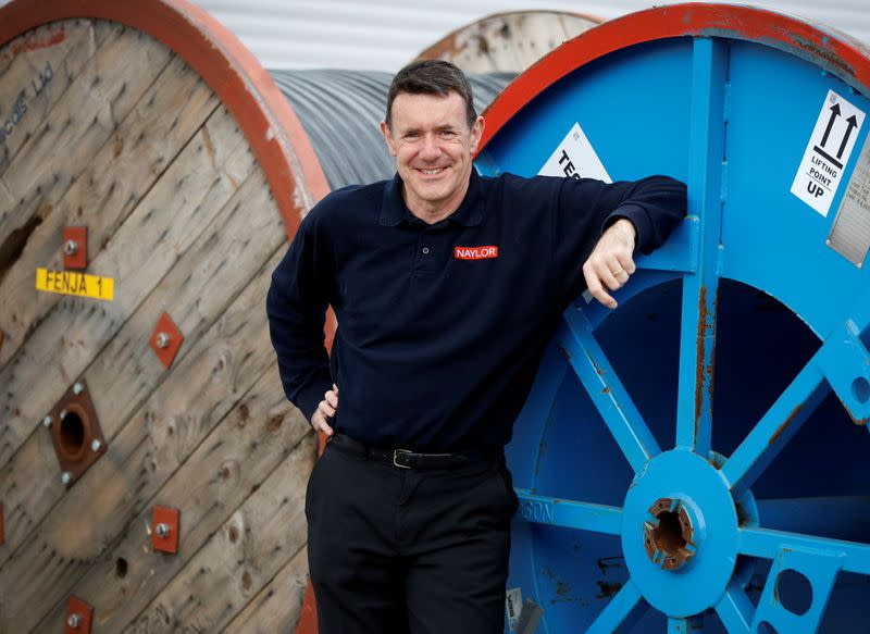 Edward Naylor, CEO of Naylor Industries poses for a photograph at his company's Wombwell site in Wombwell