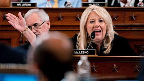 PHOTO: Republican Representative Debbie Lesko speaks during the House Judiciary Committee's markup of House Resolution 755, Articles of Impeachment Against President Donald Trump, on Capitol Hill in Washington, D.C., Dec. 12, 2019. (Andrew Harrer/Pool via Getty Images)