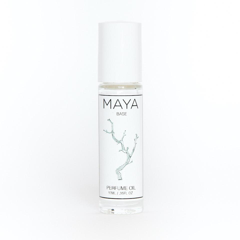 """<p>Base is the most perfect, straightforward name for this Maya Perfume Oil because, while it can be worn on its own, it also acts as an enhancing, personalizing primer for any of your favorite fragrances. While every wearer has a unique scent experience with Maya Base, <em>Allure</em> associate beauty director Sarah Kinonen says she picks up notes of sweet sandalwood and warm musk every time she wears it.</p> <p><strong>$72 for 0.35 ounces</strong> (<a href=""""https://mayafragrances.com/products/maya-base"""" rel=""""nofollow noopener"""" target=""""_blank"""" data-ylk=""""slk:Shop Now"""" class=""""link rapid-noclick-resp"""">Shop Now</a>)</p>"""