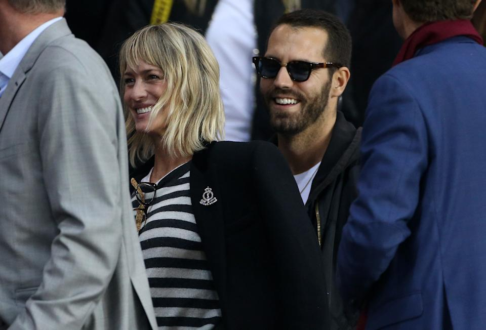 """House of Cards"" actress Robin Wright and Clement Giraudet, a <a href=""https://www.eonline.com/news/959736/surprise-robin-wright-marries-clement-giraudet"" target=""_blank"" rel=""noopener noreferrer"">VIP relations manager</a> at the fashion house Saint Laurent, <a href=""https://www.huffpost.com/entry/robin-wright-weds-clement-giraudet_n_5b7308f8e4b0594c38c571c4"" target=""_blank"" rel=""noopener noreferrer"">married in the French countryside</a> last  August.<br /><br><br><br />After their surprise wedding, the newlywed couple <a href=""https://people.com/movies/robin-wright-new-husband-clement-giraudet-share-kiss-honeymoon/"" target=""_blank"" rel=""noopener noreferrer"">were photographed</a> honeymooning on the island of Ibiza, Spain."