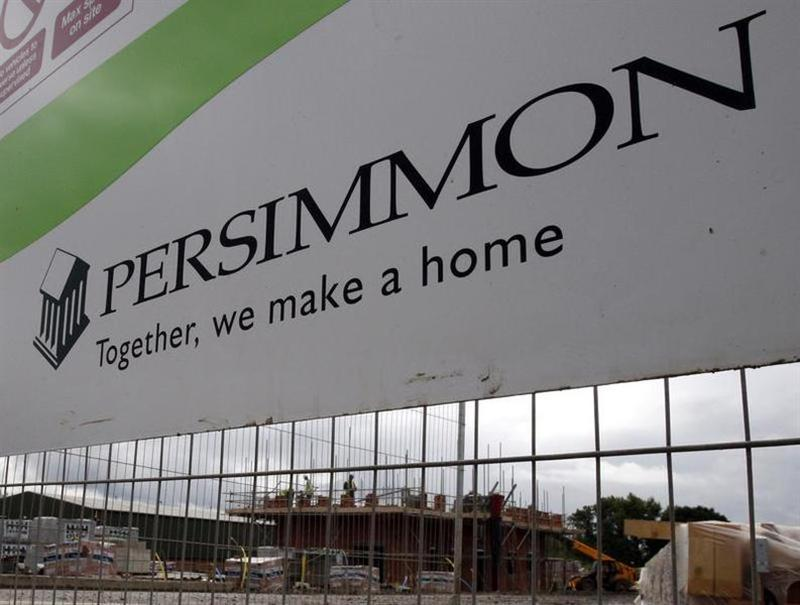 Persimmon housing development is pictured in Hilton, central England