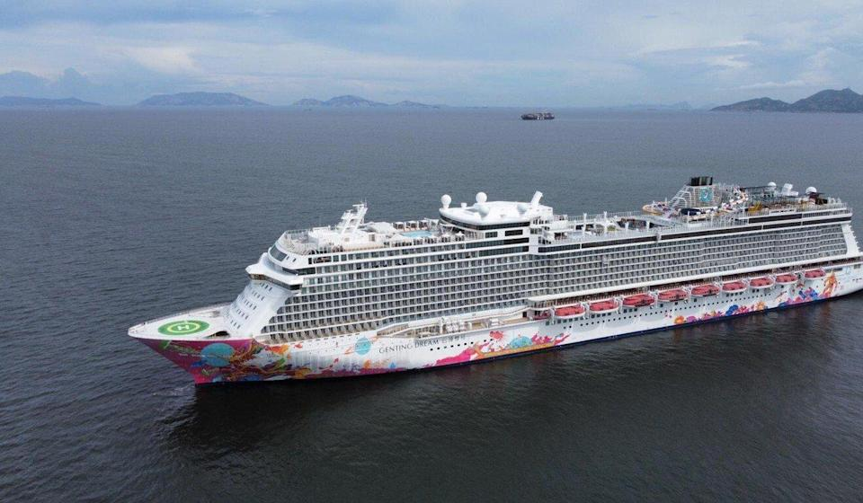 Dream Cruises, operator of the Genting Dream (pictured), is rolling out a sweepstakes offering free trips to vaccinated Hongkongers. Photo: Martin Chan