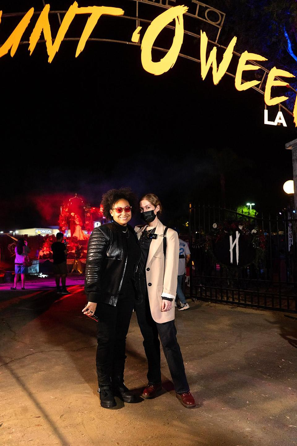 <p>getting ready to enter Haunt'Oween L.A., sponsored by KiwiCo, at The Promenade at Westfield Topanga on Oct. 5. </p>