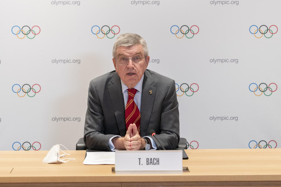 Bach said athletes 'should be free' to decide whether they compete at Tokyo. Credit: IOC/Greg Martin