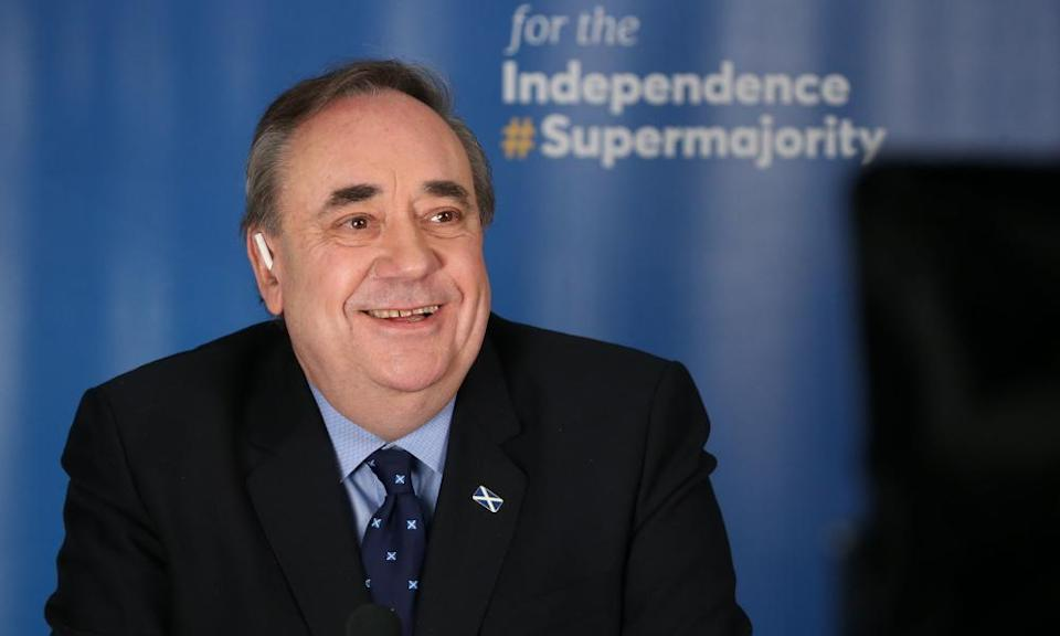 Alex Salmond launches his Alba party's election campaign in Ellon, Aberdeenshire