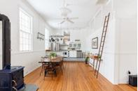 """<p>This gorgeous converted old schoolhouse in upstate New York has all you need for a slow city break. Inside you'll find two <a href=""""https://www.housebeautiful.com/uk/decorate/bedroom/a35201382/bedroom-lighting-ideas/"""" rel=""""nofollow noopener"""" target=""""_blank"""" data-ylk=""""slk:bedrooms"""" class=""""link rapid-noclick-resp"""">bedrooms</a>, one bathroom, unique vintage furnishings, original wood plank flooring, a clawfoot tub, and a salt-water pool.</p><p><a class=""""link rapid-noclick-resp"""" href=""""https://go.redirectingat.com?id=127X1599956&url=https%3A%2F%2Fwww.airbnb.co.uk%2Frooms%2F10187662&sref=https%3A%2F%2Fwww.housebeautiful.com%2Fuk%2Flifestyle%2Fproperty%2Fg35381593%2Fairbnb-most-liked-homes%2F"""" rel=""""nofollow noopener"""" target=""""_blank"""" data-ylk=""""slk:MORE INFO"""">MORE INFO</a></p>"""