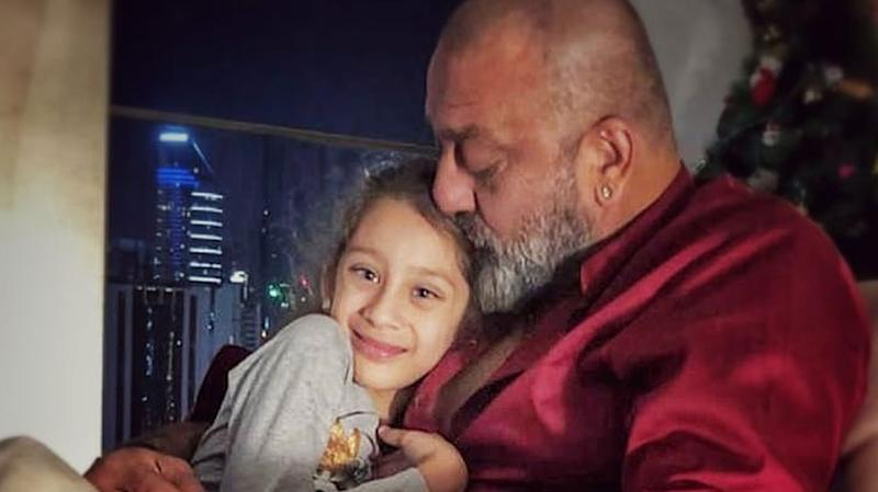 sanjay dutt with daughter