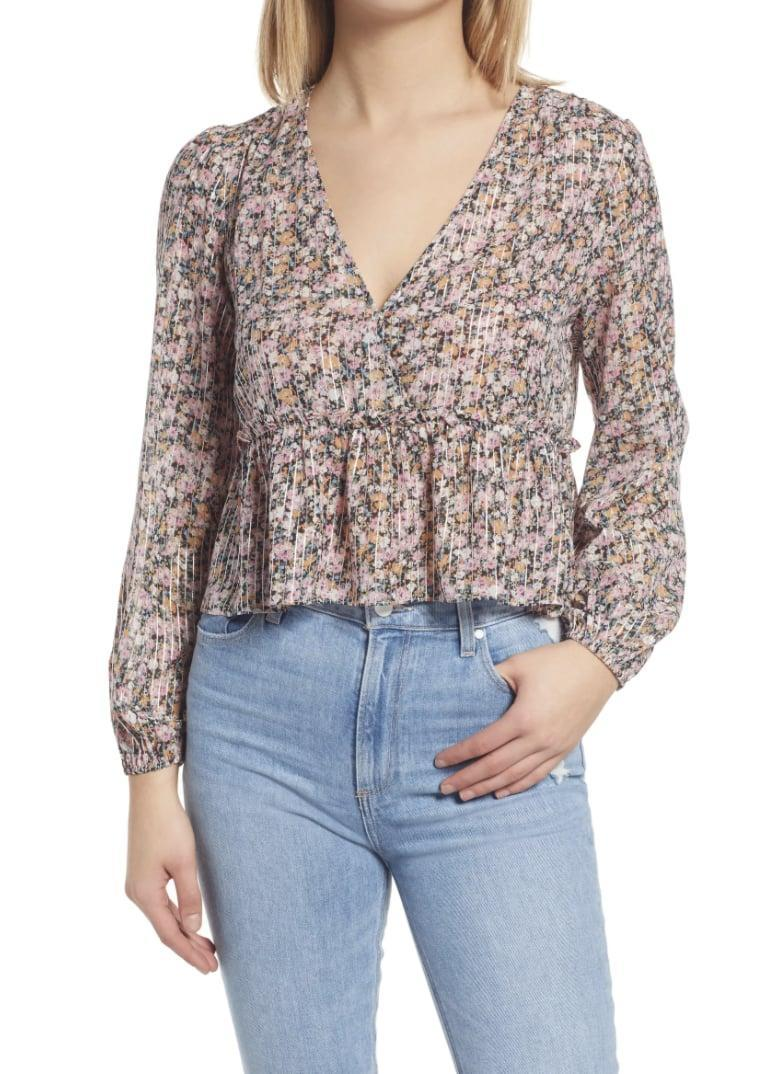 <p>You'll feel effortless and confident in this <span>WAYF Lynwood Floral Peplum Top</span> ($31, originally $68).</p>