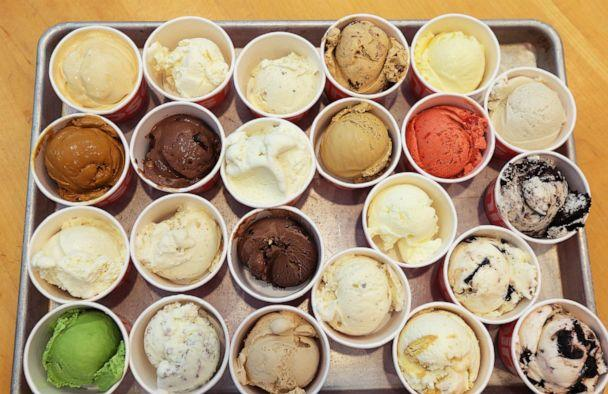 PHOTO: In this file image, various flavors of ice cream are displayed at Toscanini's in Kendall Square in Cambridge, Mass., on May 23, 2018. (Boston Globe via Getty Images, FILE)