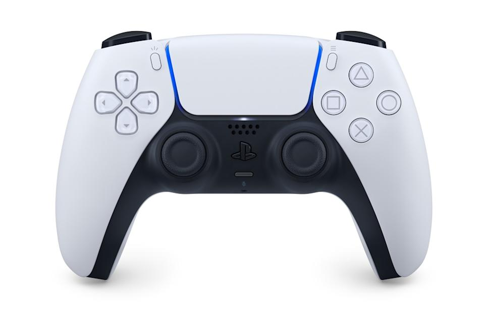 The new DualSense controller is chunkier than the DualShock 4, but features innovative adaptive triggers that add tension to button presses. (Image: Sony)