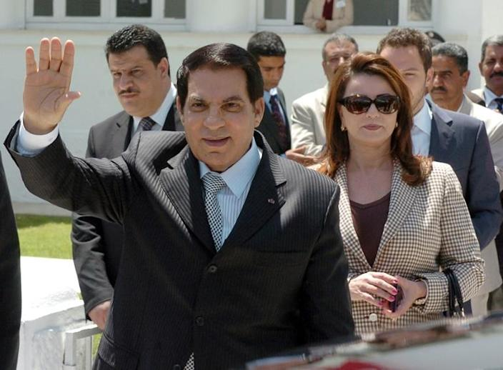 Former Tunisian president Zine El Abidine Ben Ali is survived by his wife Leila Trabelsi and their children (AFP Photo/Fethi Belaid)