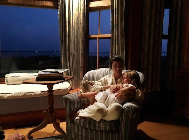 "<p>This beautiful photo captured a moment when Kourtney was lulling Reign to sleep on their Nantucket vacation. Of course, she did refer to her app in the caption … (Photo: <a href=""https://www.instagram.com/p/BRJpiRJDJQi/?taken-by=kourtneykardash"" rel=""nofollow noopener"" target=""_blank"" data-ylk=""slk:Kourtney Kardashian via Instagram"" class=""link rapid-noclick-resp"">Kourtney Kardashian via Instagram</a>)<br><br></p>"