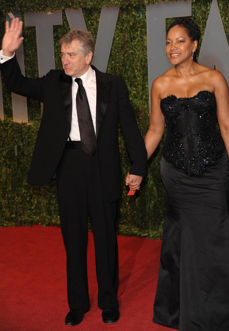 FILE-   In this Sunday, Feb. 22, 2009 file photo, Robert DeNiro and Grace Hightower arrive at the Vanity Fair Oscar party in West Hollywood, Calif. (AP Photo/Evan Agostini, FILE)