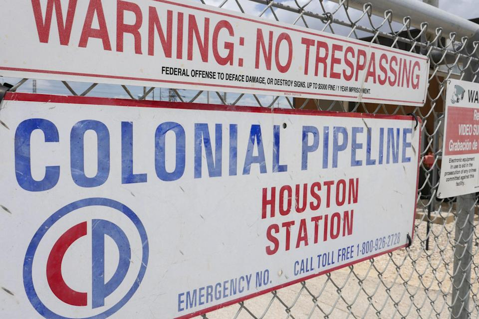 Colonial Pipeline Houston Station on May 10, 2021, in Pasadena, Texas.