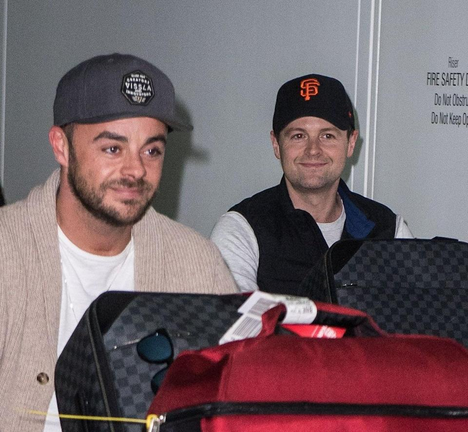 Ant and Dec have touched down in Oz. Copyright: [Rex]