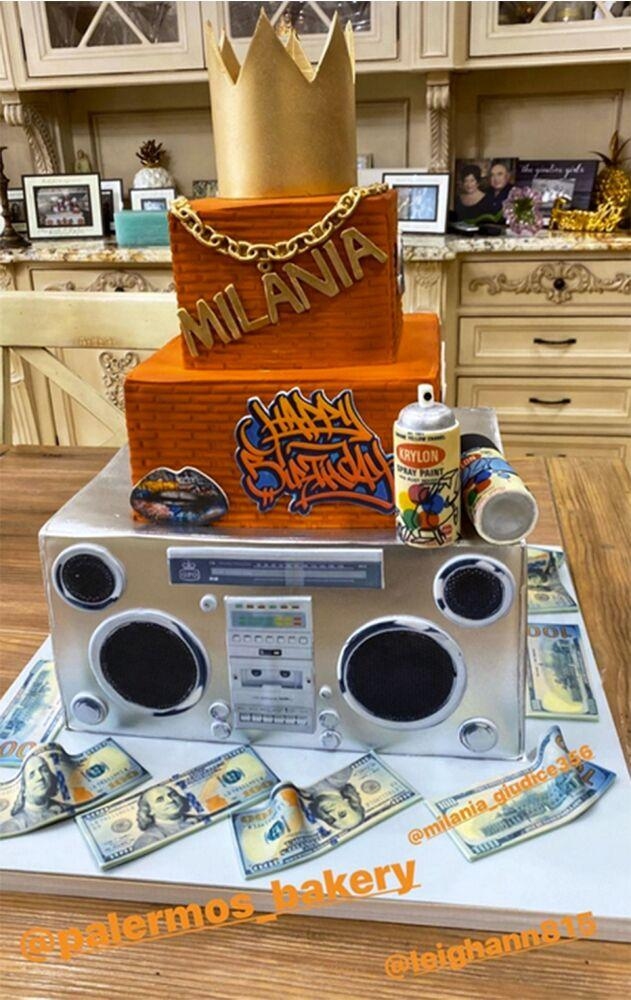 Teresa Giudice Gets Daughter Milania A Blinged Out Boombox And Graffiti Cake For Her 14th Birthday