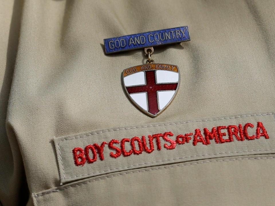 <p>Boy Scouts of America badge</p> (AP)