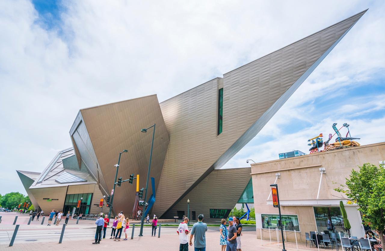 Completed in 2006, the dynamic extension to the Denver Art Museum came courtesy of Daniel Libeskind, one of the most revolutionary architects in the world. Inspired by the surrounding Rocky Mountains, as well as the growth of Denver as a city, Libeskind's sharp angular forms have attracted more museumgoers since they were added.