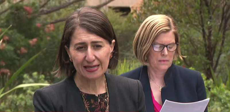Premier Gladys Berejiklian has warned the state is on course for a substantial outbreak. Source: ABC