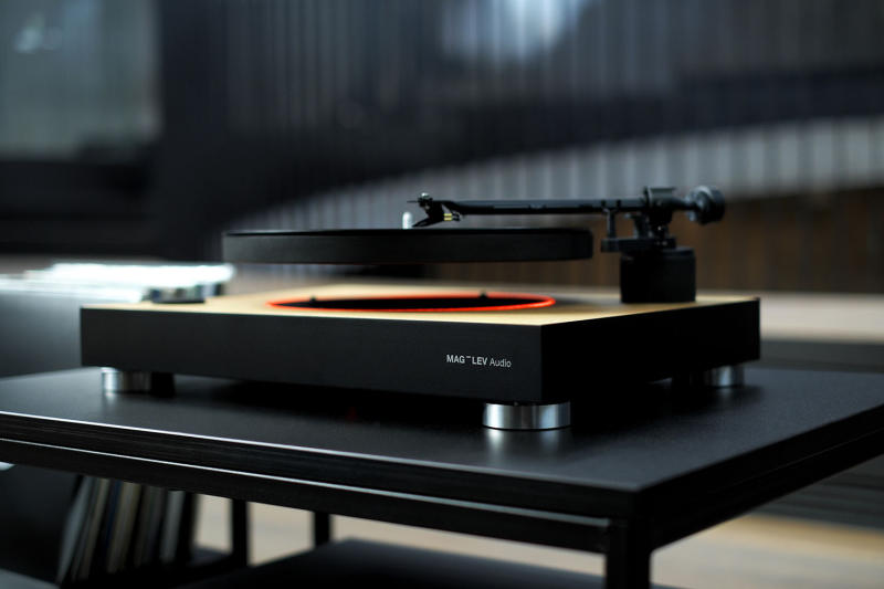 Spin your wax on a cushion of air with this levitating turntable