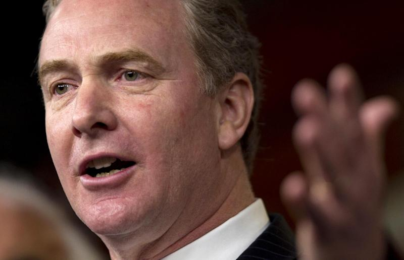 FILE - In this Dec. 22, 2011 file photo, Rep. Chris Van Hollen, D-Md., ranking Democrat on the House Budget Committee, speaks during a news conference on Capitol Hill in Washington. Republicans are ready to ram through the House an election-year, $3.5 trillion budget that showcases their deficit-cutting plan for revamping Medicare and slicing everything from food stamps to transportation while rejecting President Barack Obama's call to raise taxes on the rich. (AP Photo/Evan Vucci, File)