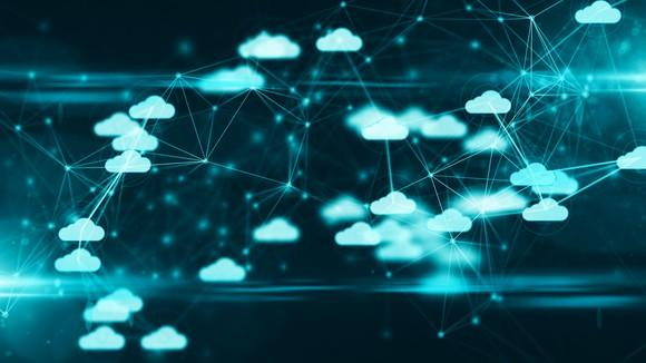 A graphical representation of cloud connections.