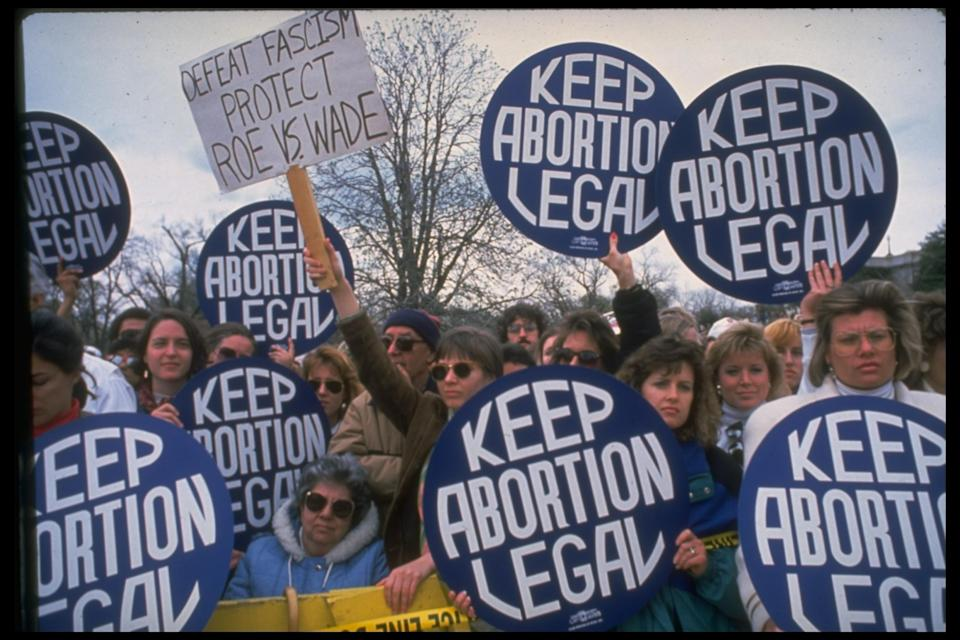 Abortion-rights supporters rallying. (Photo: Getty Images)