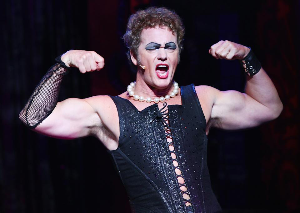 SYDNEY, AUSTRALIA - APRIL 15:  Craig McLachlan plays the role of Frank N Furter during a media call for The Rocky Horror Show at The Star on April 15, 2015 in Sydney, Australia.  (Photo by Don Arnold/WireImage)