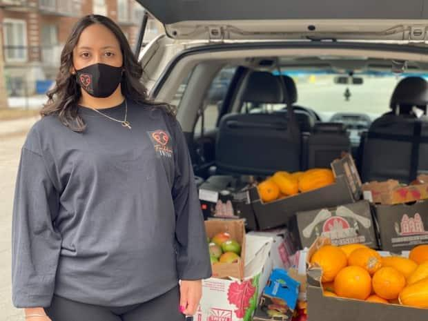 Mayte Saucedo, operates Twins Foundation, a small non-profit that delivers food and other goods to disadvantaged neighbourhoods around Montreal.