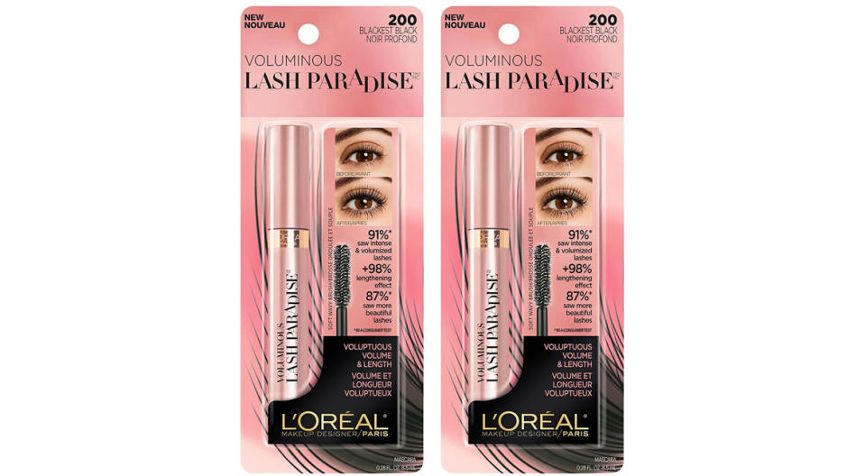L'Oreal Paris Voluminous Lash Paradise is on sale in a two-pack. (Photo: Amazon)