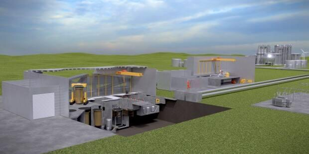 A Small Modular Reactor proposed for Oakville, Ont. intended to be operational in 2029. Two New Brunswick-based proposals have received government funding to help develop the idea. (Terrestrial Energy - image credit)