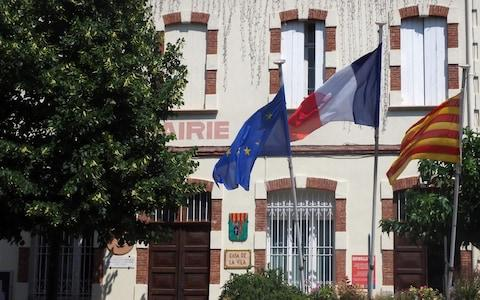 The Town Hall of Perthus, a small town on the French-Spanish border on July 20, 2018. Locals will no longer pay local taxes. - Credit: AFP