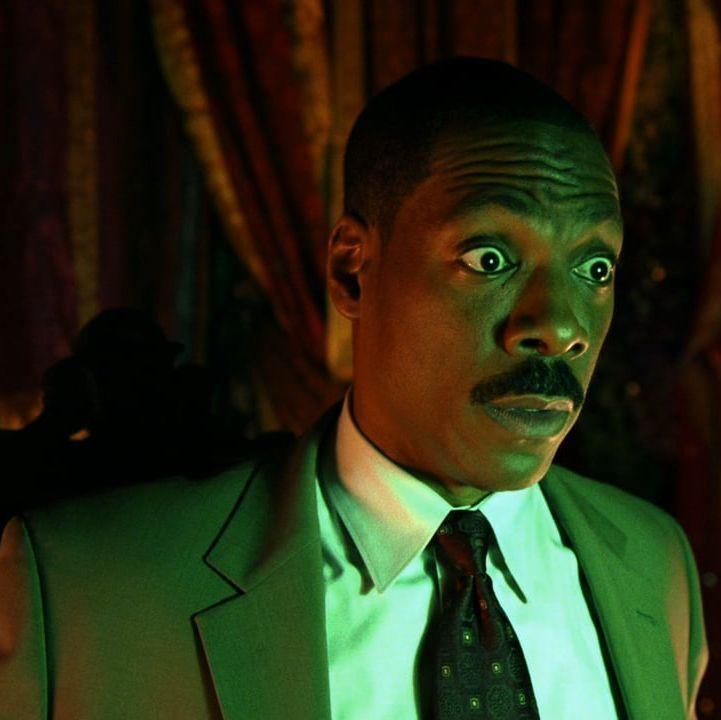 """<p>Disneyland built the house, but Eddie Murphy made the movie. By the end of this heart-warming Disney classic, you may just change your mind about those grim, grinning ghosts. </p><p><a class=""""link rapid-noclick-resp"""" href=""""https://www.amazon.com/Haunted-Mansion-Eddie-Murphy/dp/B003V5EEBC?tag=syn-yahoo-20&ascsubtag=%5Bartid%7C10055.g.29579568%5Bsrc%7Cyahoo-us"""" rel=""""nofollow noopener"""" target=""""_blank"""" data-ylk=""""slk:WATCH NOW"""">WATCH NOW</a></p>"""