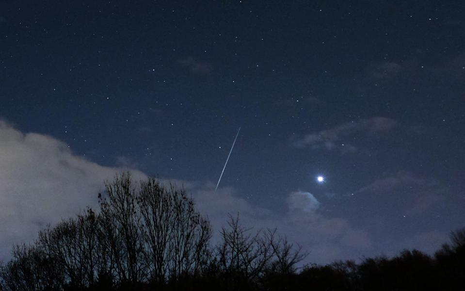 The Geminids over Saltburn By The Sea in the early hours of December 14 2018 - Getty Images Europe