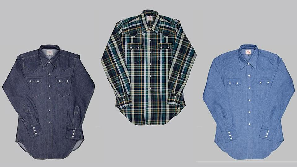 The Sawtooth Westerner is available in numerous fabrics, from raw indigo denim to madras checks. - Credit: Bryceland's