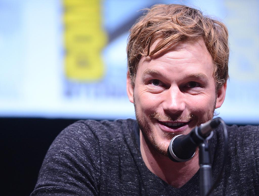 "SAN DIEGO, CA - JULY 20:  Actor Chris Pratt speaks onstage at Marvel Studios ""Guardians of the Galaxy"" during Comic-Con International 2013 at San Diego Convention Center on July 20, 2013 in San Diego, California.  (Photo by Albert L. Ortega/Getty Images)"
