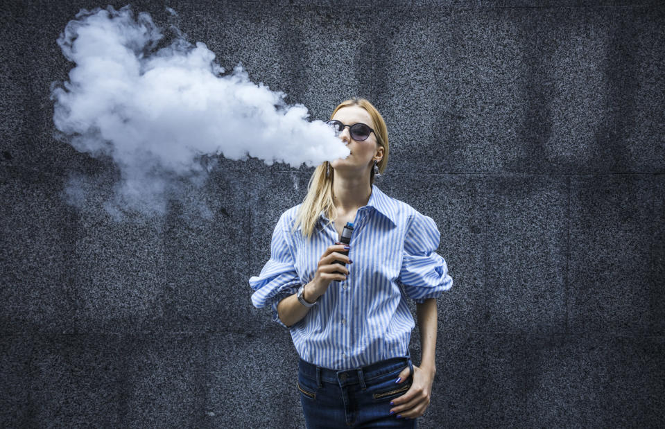 Should vaping be banned? [Photo: Getty]